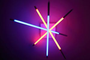 Lamp Neon Tubes 4k Wallpaper