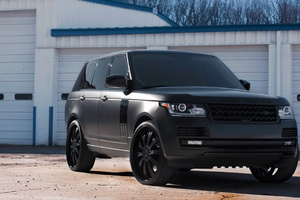 Land Rover Black Matte Wallpaper