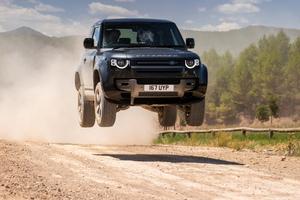 Land Rover Defender 90 V8 Carpathian Edition Jump Wallpaper