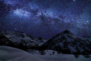Landscape Mountains Galaxy