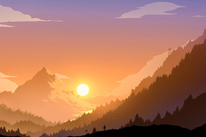Landscape Scenery Minimal 4k Wallpaper