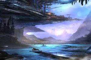 Landscape Scifi 4k Wallpaper