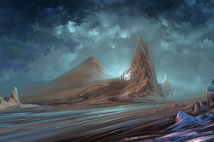 Landscape Scifi Astronaut