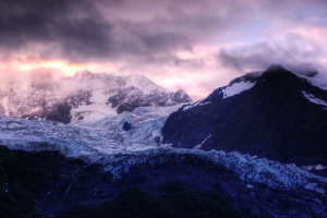 Landscape Snow Ice Mountains Wallpaper