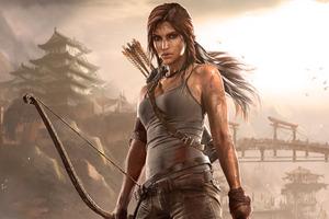Lara Croft Arts Wallpaper