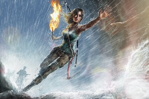 Lara Croft Artwork Wallpaper