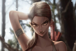 Lara Croft Artworks Wallpaper
