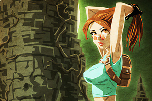 Lara Croft Bit Art