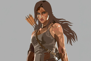 Lara Croft From Tomb Raider Minimal 5k