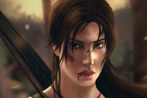 Lara Croft In Tomb Raider Art Wallpaper