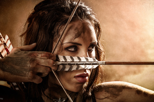 Lara Croft Portrait Cosplay Wallpaper