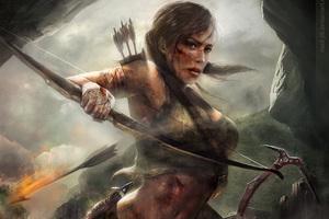 Lara Croft Tomb Raider Artwork Wallpaper