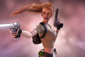 Lara Croft Tomb Raider Artwork 4k Wallpaper