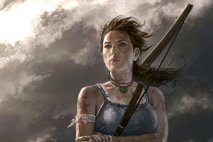 Lara Croft Tomb Raider Game Art Wallpaper