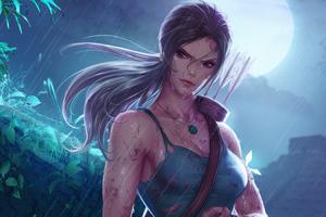 Lara Croft Tomb Raider In Jungle 5k Wallpaper