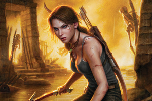 Lara Croft Tomb Raider Warrior Girl 4k Wallpaper