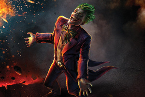Laughing Joker Artwork Wallpaper