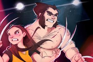 Laura And Logan X Men 5k Wallpaper
