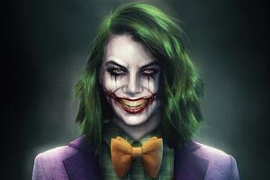 Lauren Cohan Joker Concept Art 5k Wallpaper