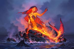 Lava Mermaid Wallpaper