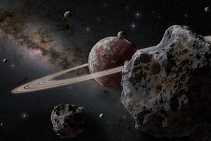 Lava Planet In Milky Way 8k Wallpaper