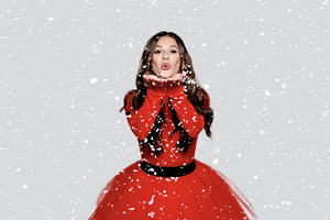 Lea Michele Christmas In The City Album Photoshoot Wallpaper