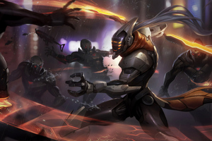 League Of Legends Covered In Enemies Wallpaper