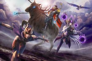 League Of Legends Shyvana Syndra Viktor