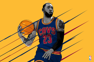 LeBron James 15k Artwork Wallpaper