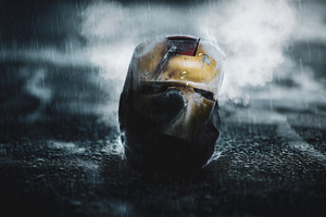 Left Iron Man Helmet Wallpaper