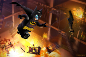 LEGO Batman Concept Art Wallpaper