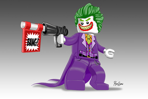 Lego Joker 5k Artwork