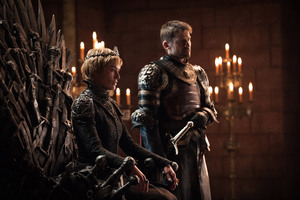 Lena Headey as Cersei Lannister and Nikolaj Coster Waldau as Jaime Lannister