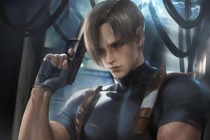 Leon Resident Evil Fanart