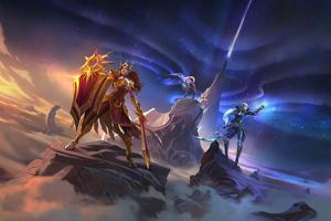 Leona Diana And Pantheon League Of Legends 8k