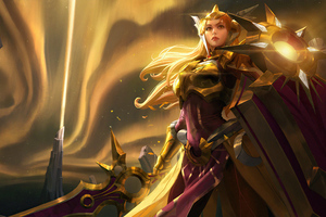 Leona League Of Legends Game Art 4k Wallpaper