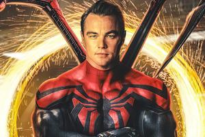 Leonardo DiCaprio As Spiderman 4k Wallpaper