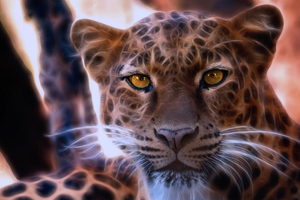Leopard Crystal Glowing 4k Wallpaper