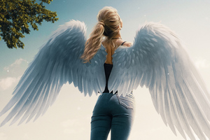 Lets Fly Angel Girl 4k Wallpaper