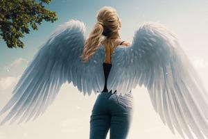 Lets Fly Angel Girl 4k