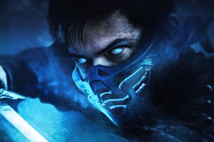 Lewis Tan As Sub Zero Mortal Komabt Movie Wallpaper