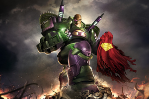 Lex Luthor Holding Superman Cape Wallpaper