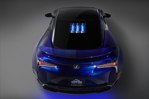 Lexus Black Panther Lc 500 Rear Wallpaper