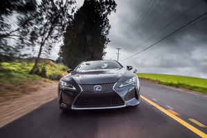 Lexus LC 500h 2018 Front Wallpaper