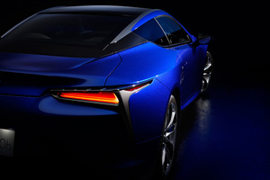 Lexus LC 500h Structural Blue 2018 Rear Wallpaper