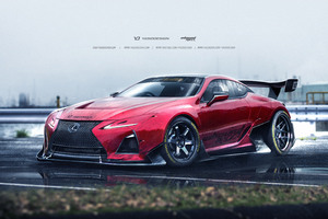 Lexus LC500 Fan Design Wallpaper