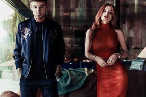 Liam Payne Bella Thorne Photoshoot Music Video Wallpaper