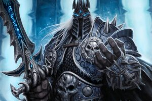 Lich King World Of Warcraft 4k 5k Wallpaper