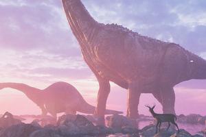 Life Before Dinosaur Reindeer 4k