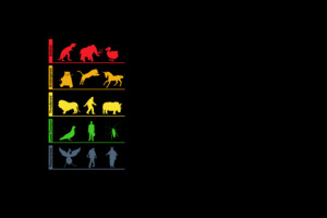 Life Evolution Minimalism Wallpaper